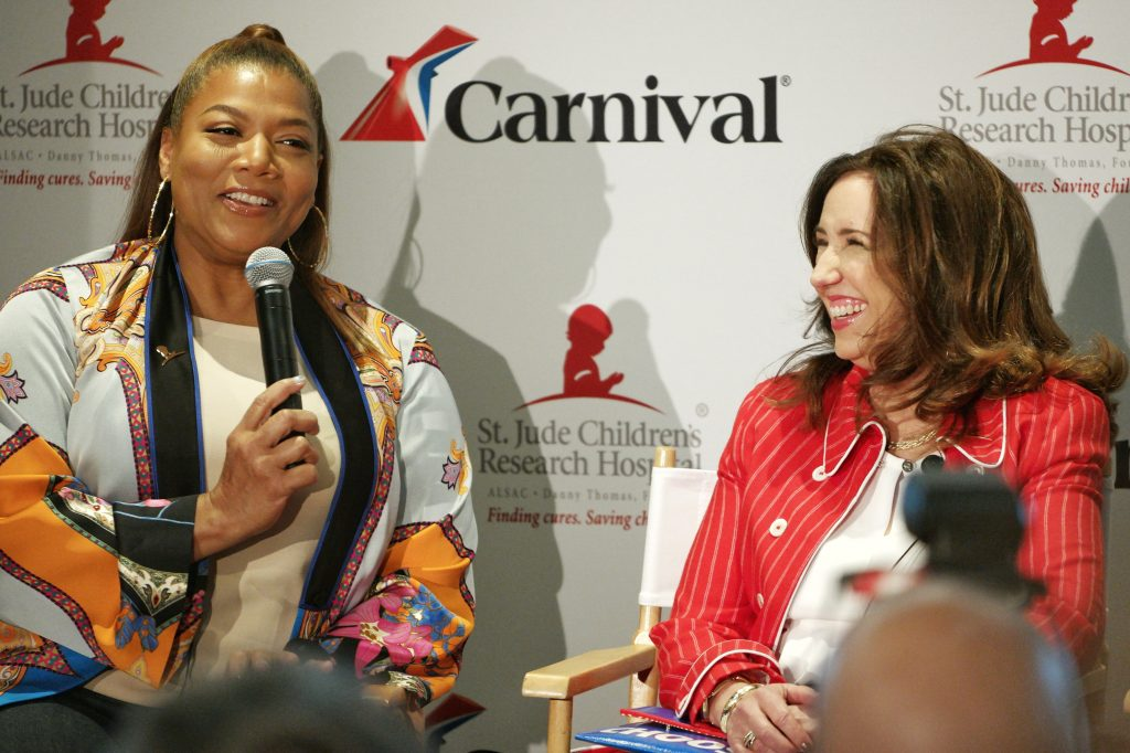 St. Jude Carnival Horizon Naming Ceremony with Queen Latifah and President Christine Duffy