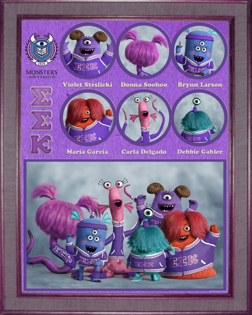 Monsters University Greek Week Sorority and Fraternity Posters