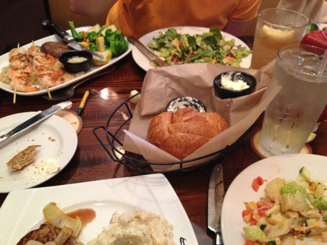 Longhorn Steakhouse Entress and Salads
