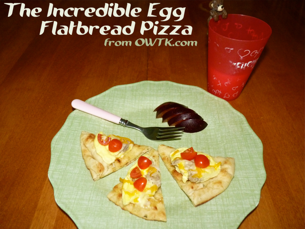 Incredible Egg Flatbread Egg Pizza