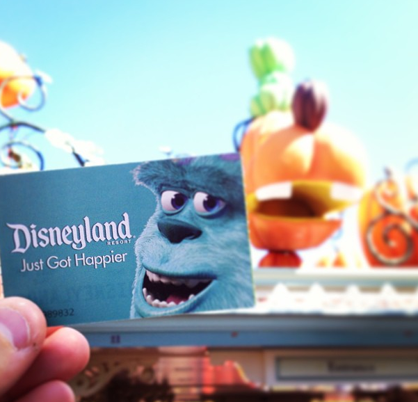 Disneyland ticket and the front gates_OWTK