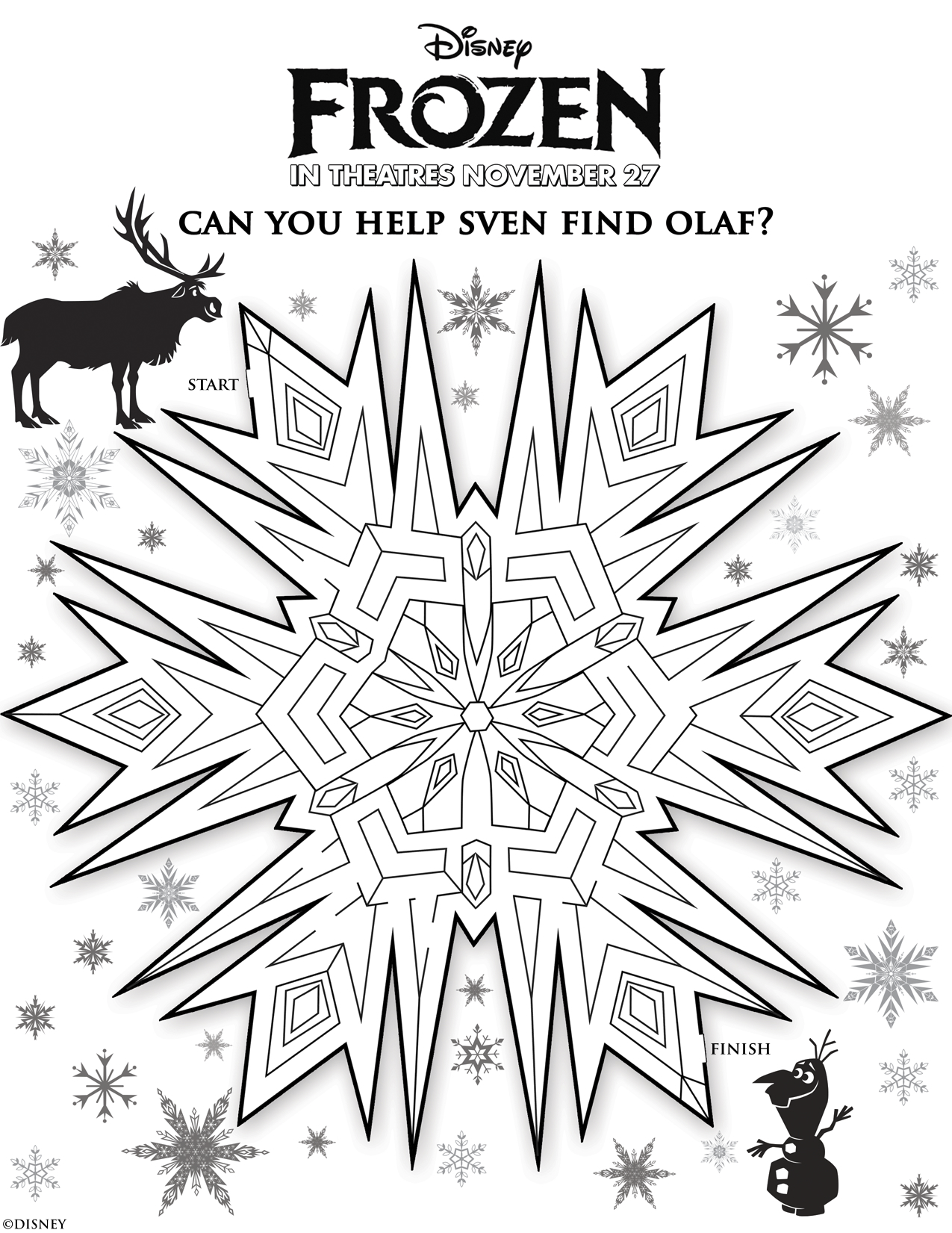 Frozen Movie Trailer and Free Printable Activity Sheets ...