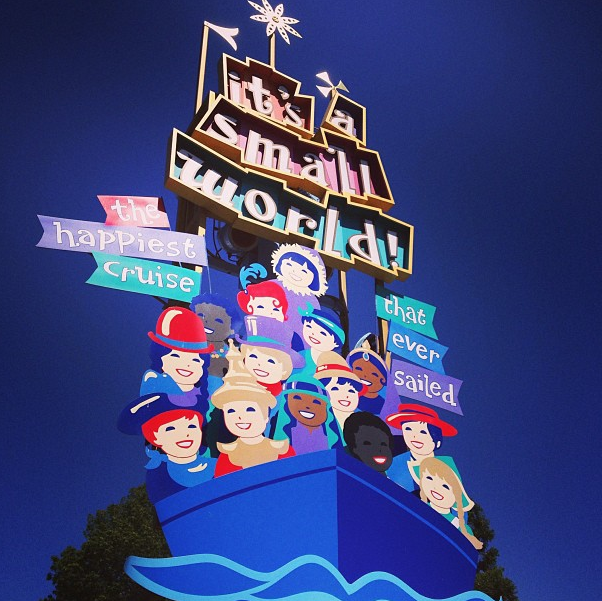 It's A Small World Ride Sign at Disneyland Sept 2013