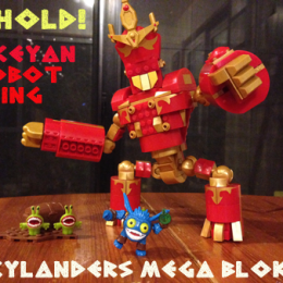 Rise of the Skylanders Mega Bloks Arkeyan Robot King