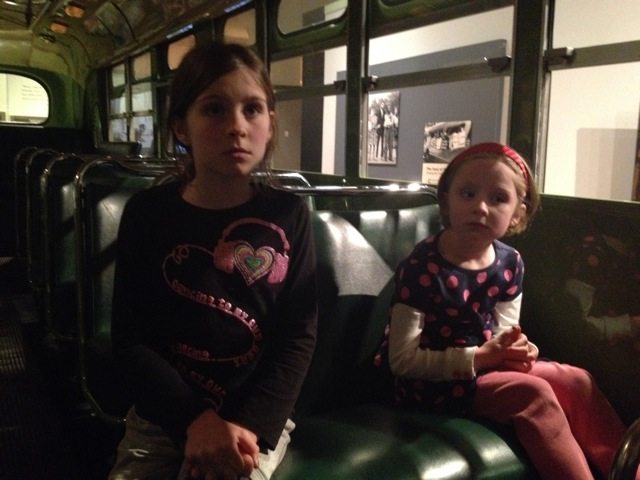 OWTK girls in Rosa Parks bus
