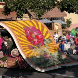 The 2014 Rose Parade Official Logo Float View From Grandstand 1650 Colorado