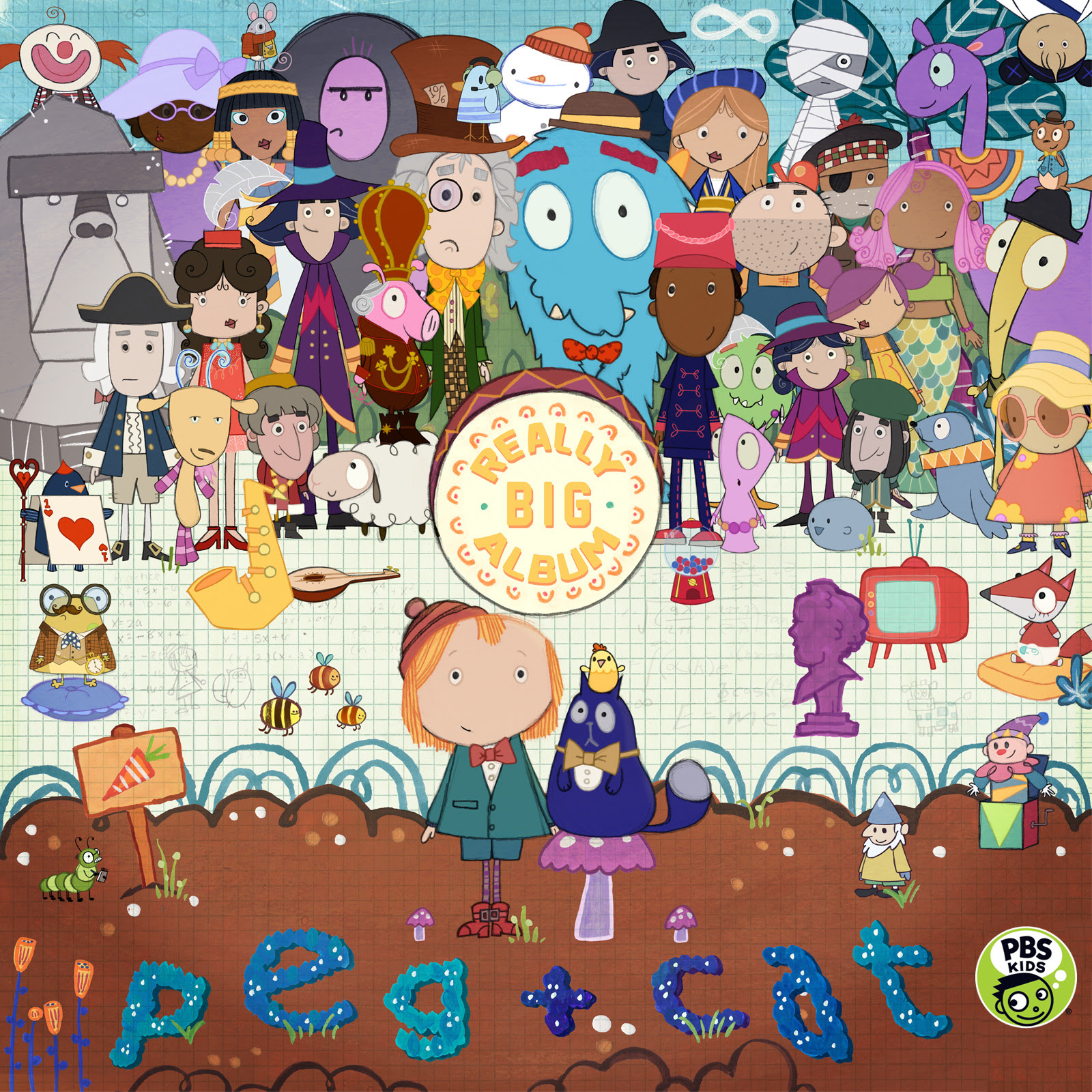 peg cat announce a really big album out with the kids