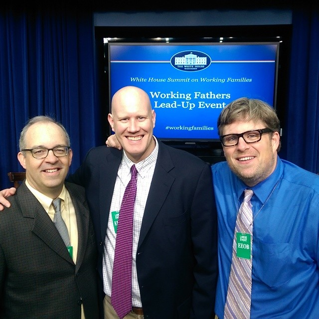 Doug French of Dad 2.0 Summit, Chris Bernholdt and Jeff Bogle of The Philly Dads Group at The White House Summit on Working Fathers