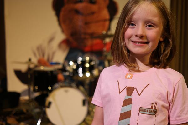 Recess Monkey Wired Necktie Pink T-Shirts Kindie Rock