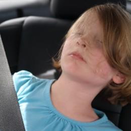 2014 Toyota Highlander Daughter Sleeping