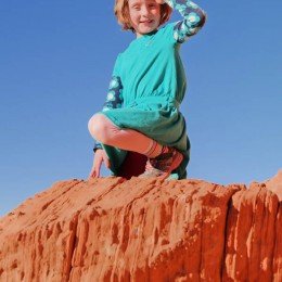 Valley of Fire State Park 7-year-old Girl Posing