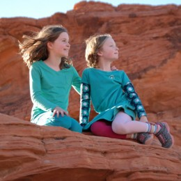 Valley of Fire State Park Sisters Posing