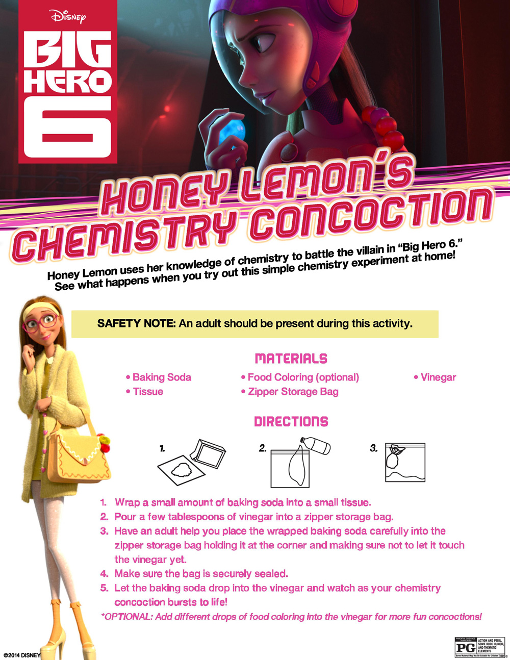 free big hero 6 activity sheets science experiments and