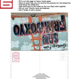 Big Hero 6 San Fransokyo Postcard