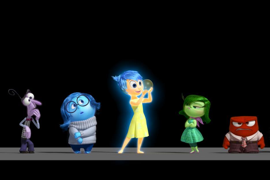 InsideOut Disney Pixar Emotion Characters