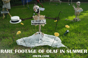 Rare Footage of Frozen's Olaf the Snowman In Summer Discovered