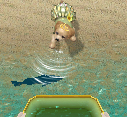 Petz Beach 3DS Review Dog and fish Screen Shot