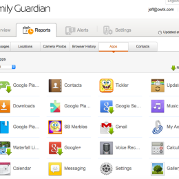 Family Guardian Apps Screenshot