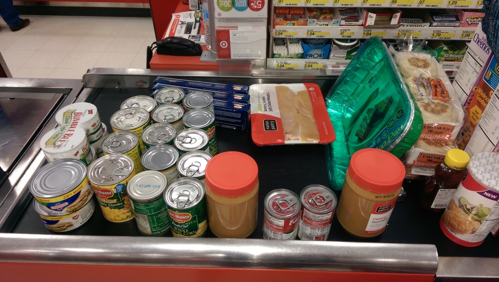 LeeGoodDeed canned goods for Chester County Food Bank at Target