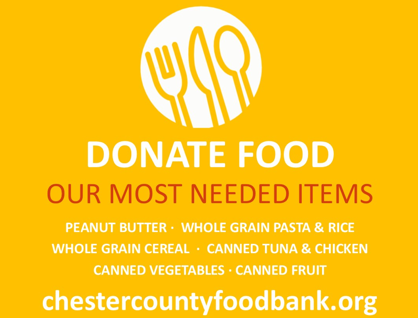 Chester County Food Bank Call for Donations