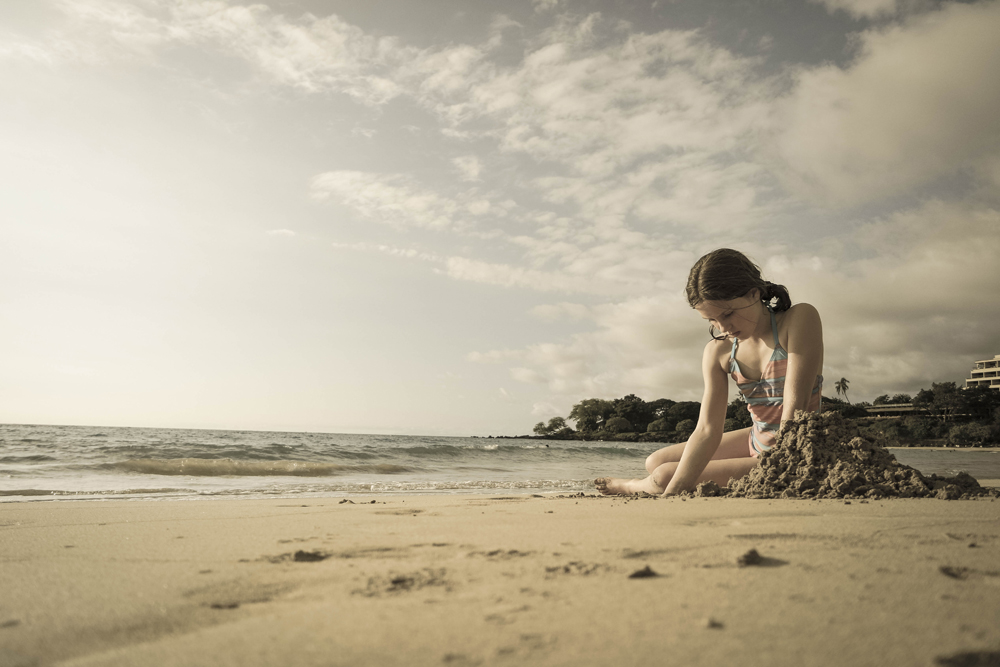 Girl on Hawaiian Beach