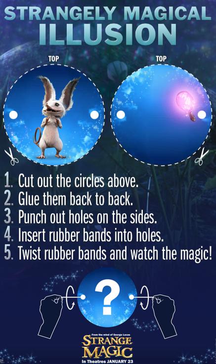 Strange Magic Illusion Activity Sheet