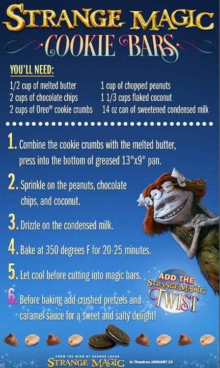 Strange Magic_Cookie Bars Recipe