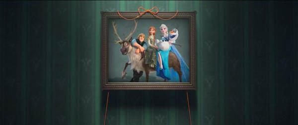 Frozen Fever Movie Screenshot Art on wall
