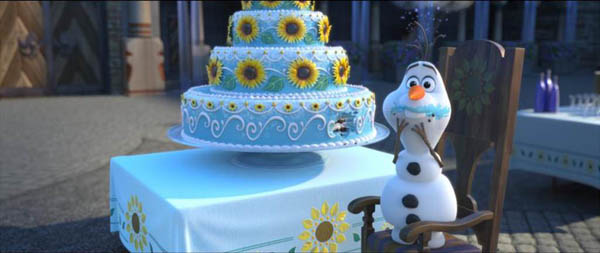 Frozen Fever Movie Screenshot Olaf and cake