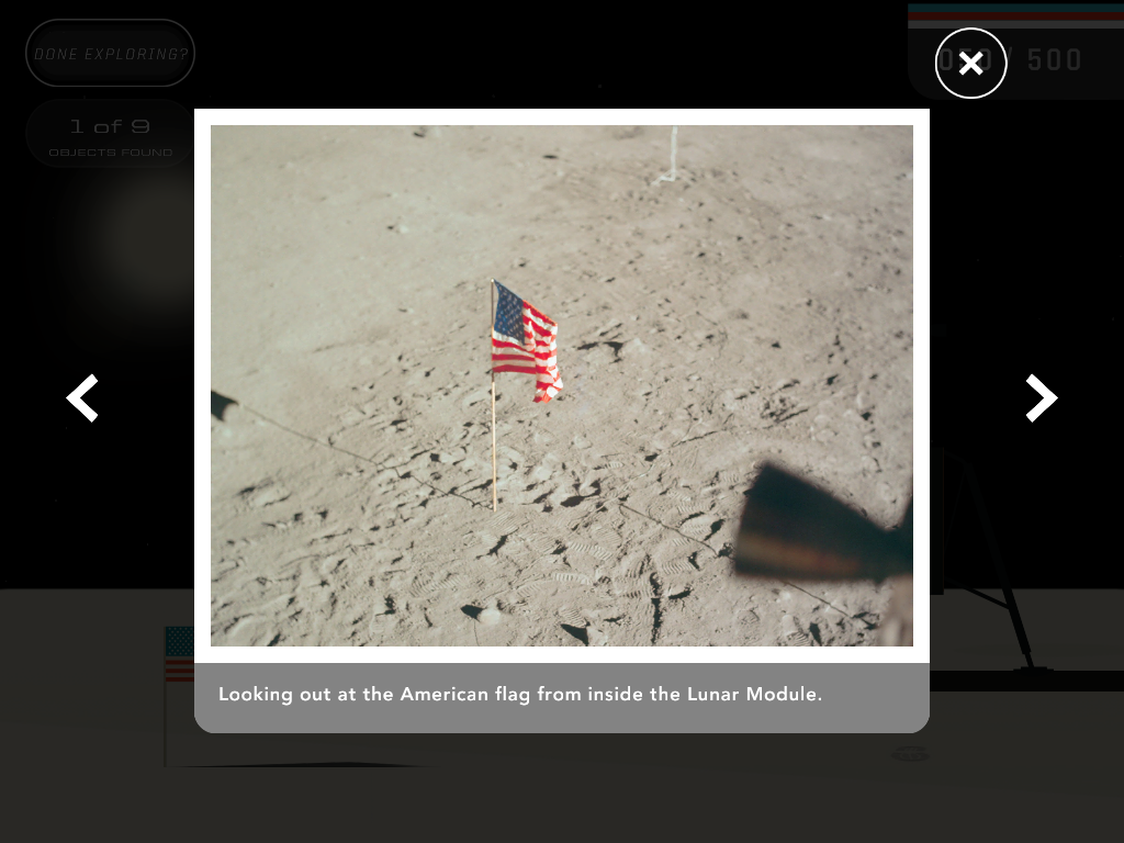 JFK Challenge App Moon Landing Screenshot