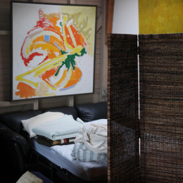 Yellow-Ferry-VRBO-Sausalito-Houseboat-Rental_Pull-Out-Sofa