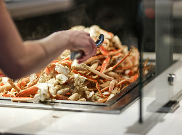 Aria Resort and Casino The Buffet Crab Legs