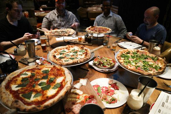Aria Casino and Resort Five50 Pizza Restaurant Pizza Spread Review