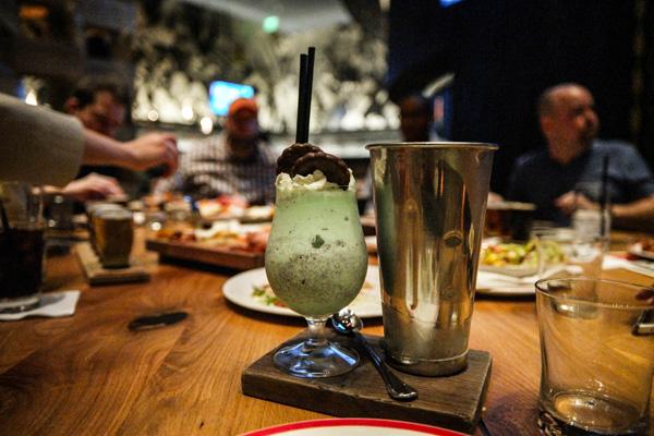 Aria Casino and Resort Five50 Pizza Restaurant Thin Mint Milkshake