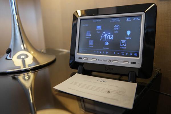 Aria Resort Las Vegas Room Control Touchscreen