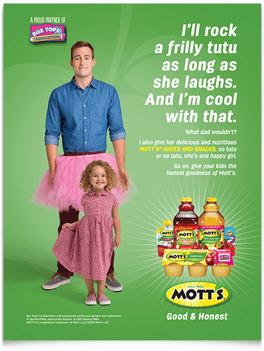 Motts Good and Honest campaign_group_four