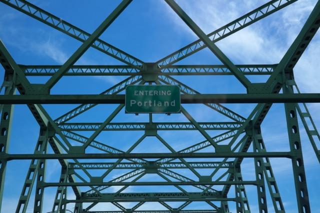 Entering Portland Sign