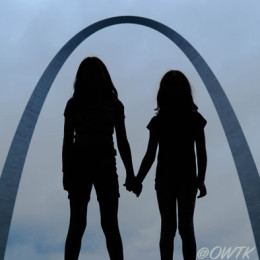 Silhouettes Inside The Arch