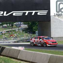 Kia-Racing-Road-America Mark Wilkins Car During the Race