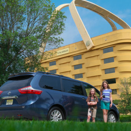 Toyota Sienna at Longaberger Basket HQ