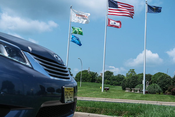 A Toyota Sienna comes back home to TMMI