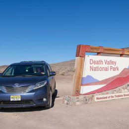Toyota Sienna in Death Valley