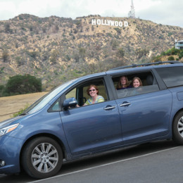 Toyota Sienna Cross Country Roadtrip at the Hollywood Sign