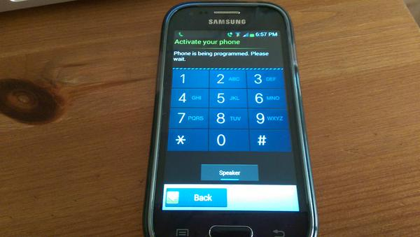 TracFone Android Samsung Galaxy Activation Screen
