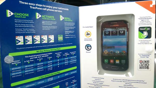 TracFone Samsung Galaxy Stardust Activation Process Box