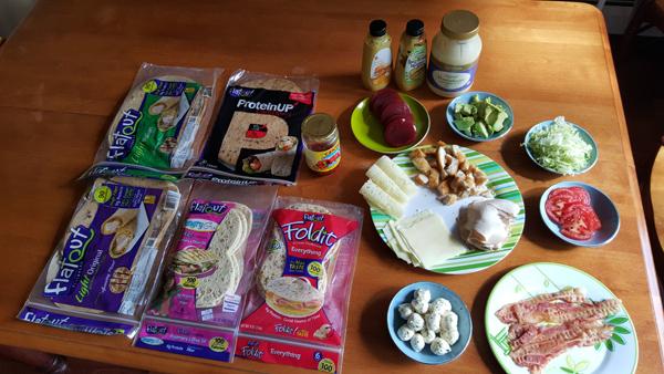 Flatout Flatbread Buffet Feast Lunch