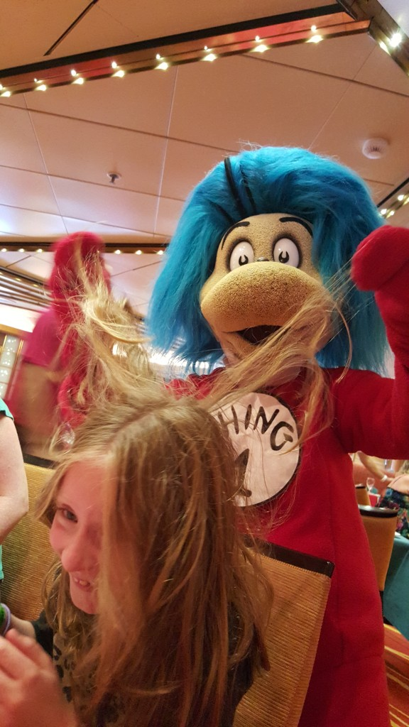 Carnival Sunshine Hair with Thing 1 Dr Seuss