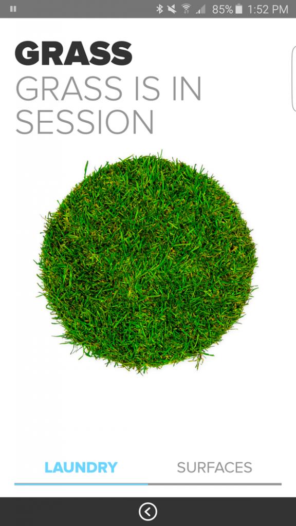 Clorox MyStain App Screenshot Grass Stain