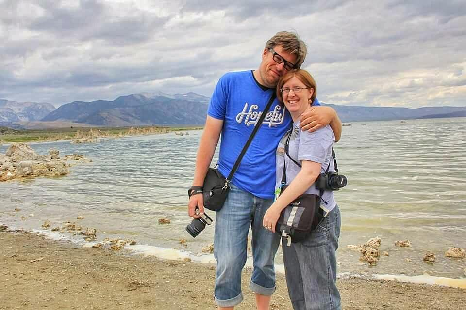 Bogles Lee Jeans at Mono Lake