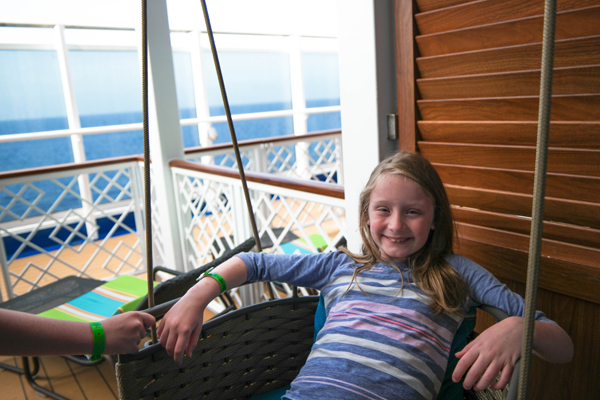 Carnival Vista Havana Suite Deck Swing Chair